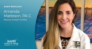 AAPRI Staff Spotlight – Meet Amanda Matteson, PA-C